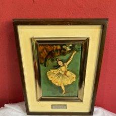 Varios objetos de Arte: CUADRO DEGAS ESMALTE AL FUEGO. Lote 255356665