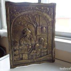 Varios objetos de Arte: ANTIGUO CUADRO GRABADO EN METAL. Lote 255580190