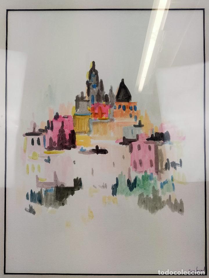 Varios objetos de Arte: CUADRO acuarela firmada sandoval 50 X 74 CM - Foto 2 - 256170160