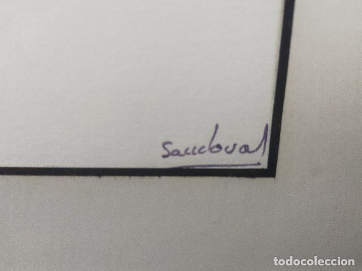 Varios objetos de Arte: CUADRO acuarela firmada sandoval 50 X 74 CM - Foto 3 - 256170160