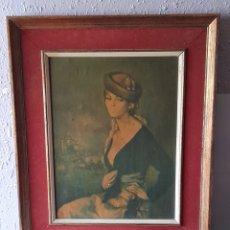 Varios objetos de Arte: CUADRO ANTIGUO FRANCISCO RIVERA. 58 X 50 CM. FECHA Y NÚMERO EN REVERSO. VER FOTOS.. Lote 258012580