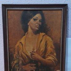 Varios objetos de Arte: CUADRO ANTIGUO DE 65 X 48 CM. VER FOTOS.. Lote 258513035