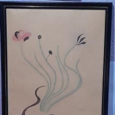 Varios objetos de Arte: CUADRO DE ESPAÑOL GUEVARA AÑO 1980 DE 70 X 56 CM . VER FOTOS.. Lote 258767635