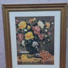 Varios objetos de Arte: CUADRO ANTIGUO FIRMADO DE MORA , 58 X48 CM. VER FOTOS.. Lote 258786010