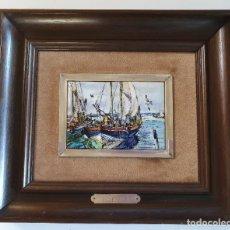 Varios objetos de Arte: REPRODUCCIÓN MARINA J.SESSIONS EN ESMALTE. ESMALTES ARTÍSTICOS NICOLAU. AÑOS 70. Lote 260504540