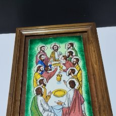 Varios objetos de Arte: PRECIOSO CUADRO CON ESMALTE AL FUEGO O SIMIL, DE LA SANTA CENA.. Lote 261216155