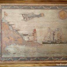 Varios objetos de Arte: BATERÍA MILITAR CABO SILLEIRO , 1920 APROX. MONTES DE BAREDO , BAIONA , ACORAZADO ESPAÑA. Lote 261272595