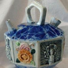 Varios objetos de Arte: ANTIGUO BOTIJO DE MAYOLICA. Lote 261940935