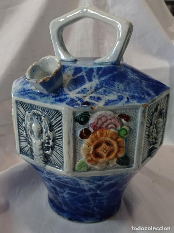 Varios objetos de Arte: ANTIGUO BOTIJO DE MAYOLICA - Foto 2 - 261940935