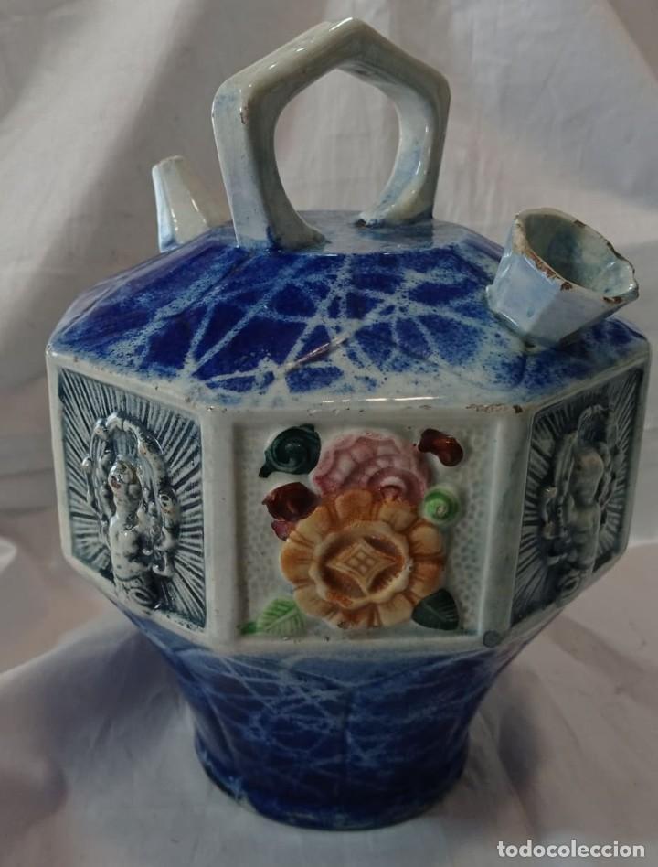 Varios objetos de Arte: ANTIGUO BOTIJO DE MAYOLICA - Foto 5 - 261940935