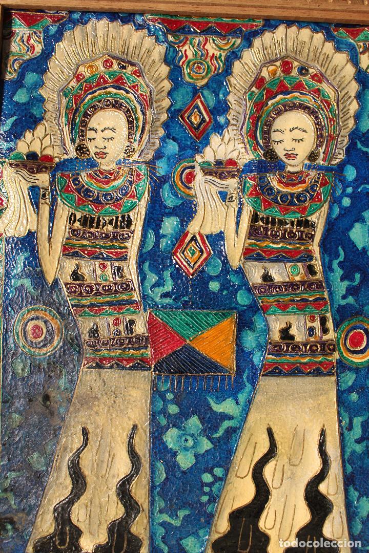 Varios objetos de Arte: cuadro esmaltes sobre lienzo y madera - Foto 5 - 262836035