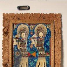 Varios objetos de Arte: CUADRO ESMALTES SOBRE LIENZO Y MADERA. Lote 262836035