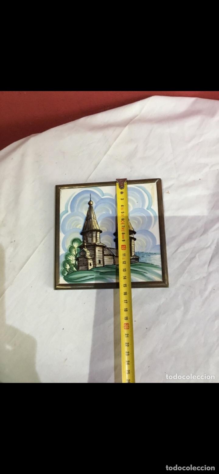 Varios objetos de Arte: El arte ruso . Beriozka . Antigua baldosa pintada . Ver fotos - Foto 3 - 263237440