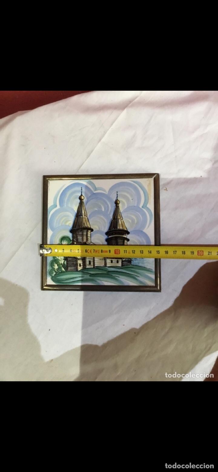 Varios objetos de Arte: El arte ruso . Beriozka . Antigua baldosa pintada . Ver fotos - Foto 4 - 263237440
