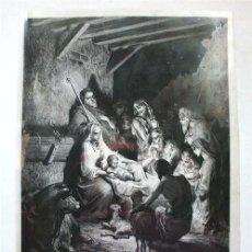 Varios objetos de Arte: LA NATIVIDAD. LÁMINA DE ACETATO QUE REPRESENTA EL DIBUJO DE GUSTAVO DORÉ, GRABADO POR PANNEMAKER. Lote 263554155