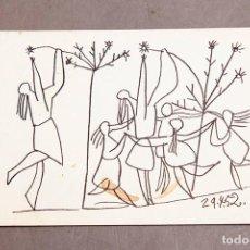 Varios objetos de Arte: PICASSO - 1952 - INVITACIÓN DE BODA. Lote 263628755