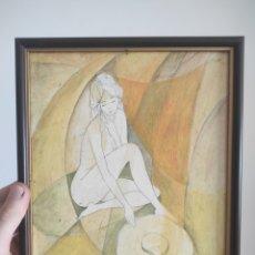 Varios objetos de Arte: IMPRESIÓN CON BARNIZ EFECTO PINTURA DE A.SCOTT. CON MARCO 25X20CM. Lote 263714165