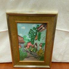 Varios objetos de Arte: CUADRO ACUARELA FIRMADO. Lote 264033025