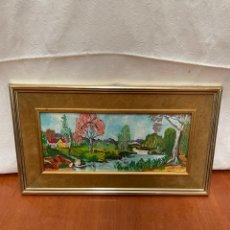 Varios objetos de Arte: CUADRO ACUARELA FIRMADO. Lote 264033195