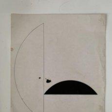 Varios objetos de Arte: ANDREU ALFARO . TÉCNICA MIXTA CON PIGMENTO SOBRE PAPEL CARTULINA.FIRMADO Y FECHADO A MANO POR ALFARO. Lote 264299868