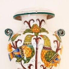 Varios objetos de Arte: JARRÓN CERÁMICA ITALIANA FIRMADA 1930-40 Y ENUMERADA 50CM X 40CM N°11 DE 50.PIEZA EXCLUSIVA. Lote 265771704