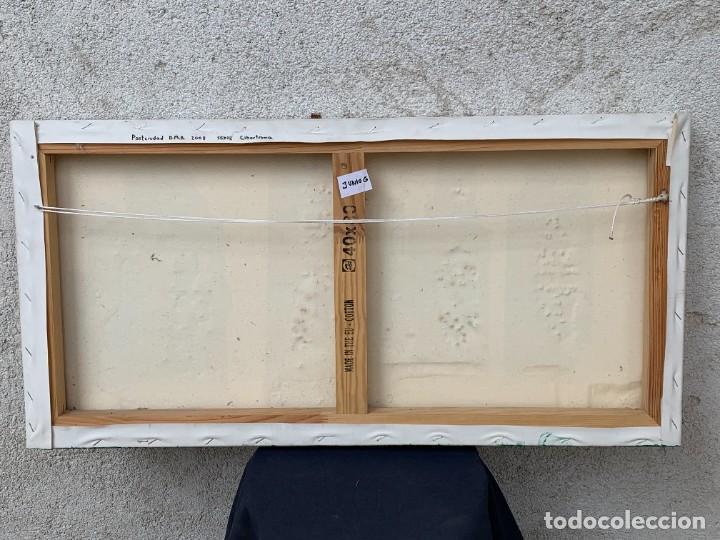 Varios objetos de Arte: OLEO CON BUDAS TAILANDIA PLACAS BASE SONY SERIE CIBERTRONIA 2008 CIUDAD RASCACIELOS 40X80CMS - Foto 2 - 265955453