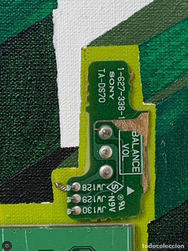 Varios objetos de Arte: OLEO CON BUDAS TAILANDIA PLACAS BASE SONY SERIE CIBERTRONIA 2008 CIUDAD RASCACIELOS 40X80CMS - Foto 6 - 265955453