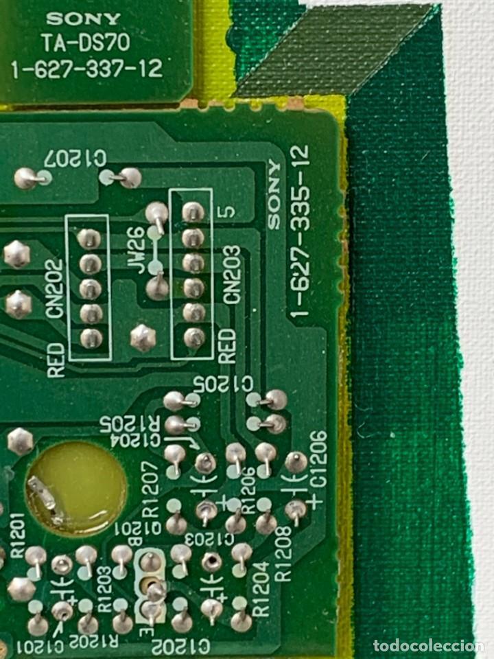 Varios objetos de Arte: OLEO CON BUDAS TAILANDIA PLACAS BASE SONY SERIE CIBERTRONIA 2008 CIUDAD RASCACIELOS 40X80CMS - Foto 12 - 265955453