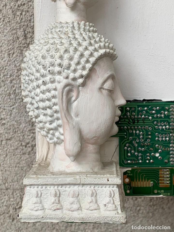 Varios objetos de Arte: OLEO CON BUDAS TAILANDIA PLACAS BASE SONY SERIE CIBERTRONIA 2008 CIUDAD RASCACIELOS 40X80CMS - Foto 33 - 265955453