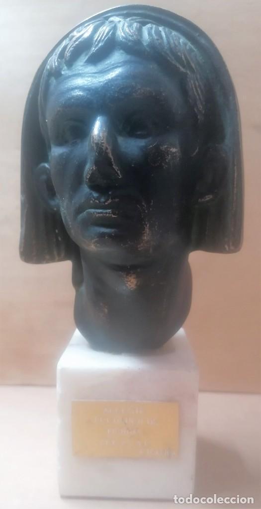 Varios objetos de Arte: Escultura. Cabeza de augusto velada. A. Texeira. Mérida - Foto 2 - 266394483