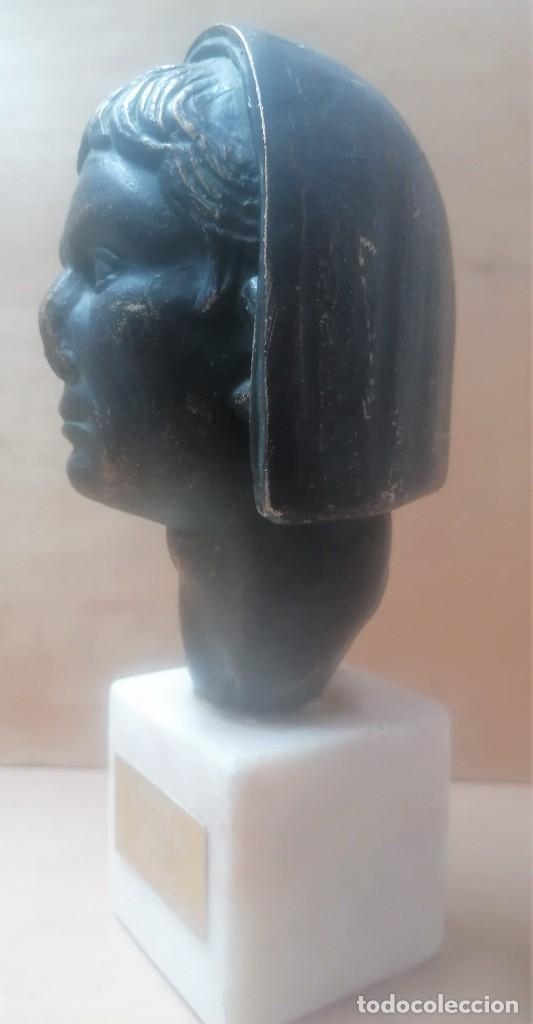 Varios objetos de Arte: Escultura. Cabeza de augusto velada. A. Texeira. Mérida - Foto 3 - 266394483