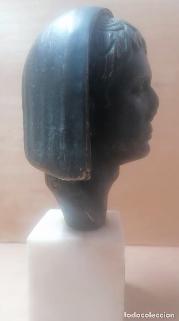 Varios objetos de Arte: Escultura. Cabeza de augusto velada. A. Texeira. Mérida - Foto 4 - 266394483