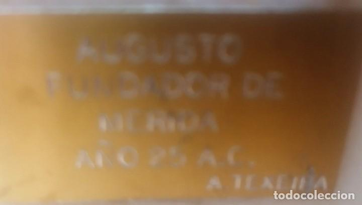 Varios objetos de Arte: Escultura. Cabeza de augusto velada. A. Texeira. Mérida - Foto 6 - 266394483