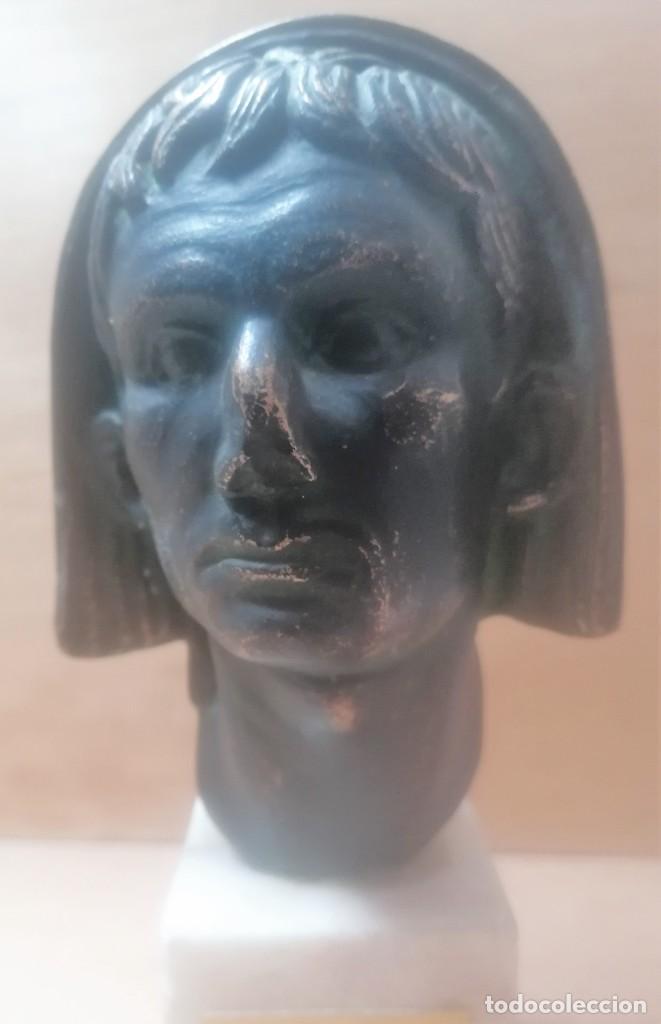 Varios objetos de Arte: Escultura. Cabeza de augusto velada. A. Texeira. Mérida - Foto 7 - 266394483
