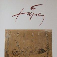 Varios objetos de Arte: CARTEL EXPOSICIÓN ANTONI TÀPIES. 1988. GALERIA D'ART GÉNESIS. BARCELONA. 60X44 CM.. Lote 266750238