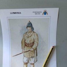 Varios objetos de Arte: LÁMINA 24X34 REPRODUCCIÓN GRABADO ANTIGUO. TRAJES TRADICIONALES CANARIAS. Lote 267089599
