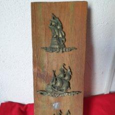 Varios objetos de Arte: ANTIGUO CUADRO BARCOS. Lote 267370249