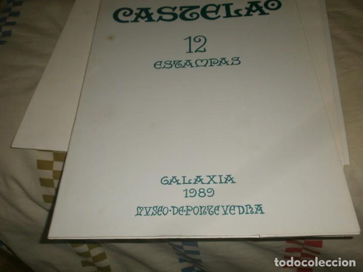 Varios objetos de Arte: Castelao 12 Estampas Galaxia 1989 Museo Pontevedra edición numerada 371/1750 firmado Xosé Filgueira - Foto 5 - 267659294