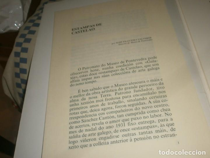 Varios objetos de Arte: Castelao 12 Estampas Galaxia 1989 Museo Pontevedra edición numerada 371/1750 firmado Xosé Filgueira - Foto 8 - 267659294