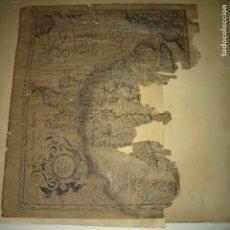 Varios objetos de Arte: GRABADO ANTIGUO MALA CONSERVACION GERARD MERCATORUM HIBERNIA MAPA ISLAS IMPERIO BRITANICO. Lote 58591486