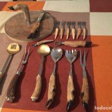 Varios objetos de Arte: CUBIERTOS CUERNO 16. Lote 267836129