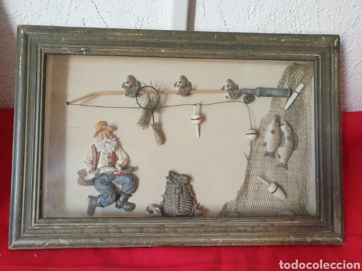 ANTIGUO CUADRO EL PESCADOR (Arte - Varios Objetos de Arte)