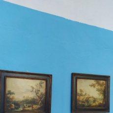 Varios objetos de Arte: LOTE 2 CUADROS ANTIGUOS DE IMAGENES. Lote 268829604