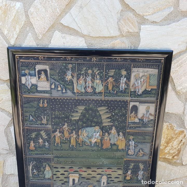 Varios objetos de Arte: TAPIZ PINTADO A MANO ENMARCADO - Foto 2 - 268830744
