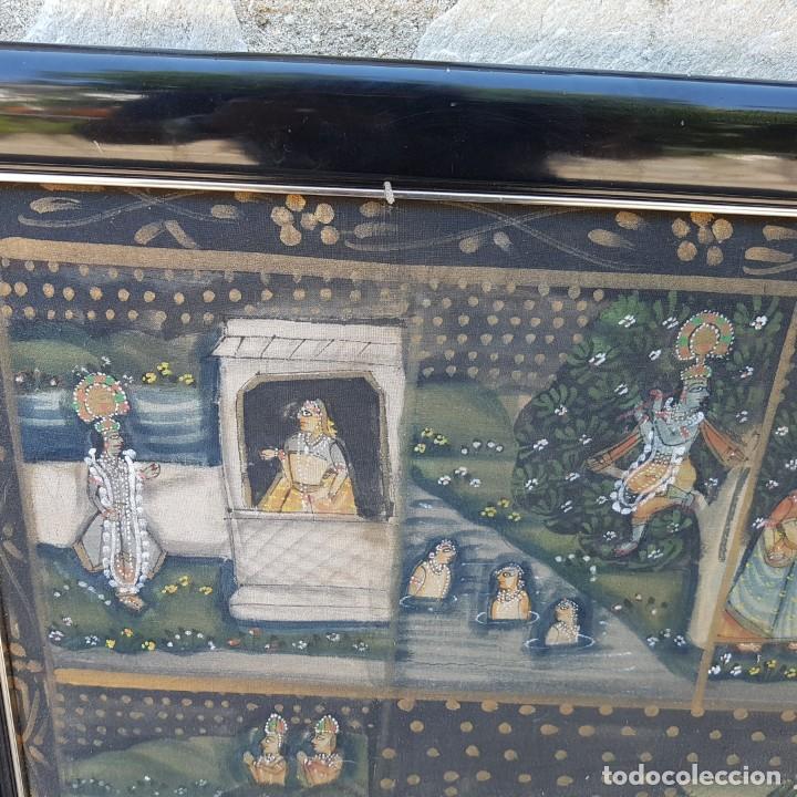 Varios objetos de Arte: TAPIZ PINTADO A MANO ENMARCADO - Foto 3 - 268830744