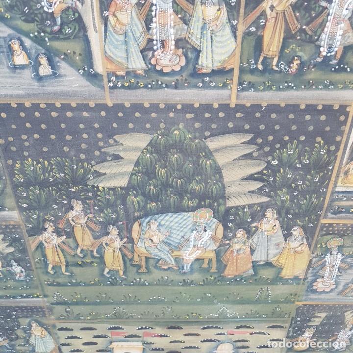 Varios objetos de Arte: TAPIZ PINTADO A MANO ENMARCADO - Foto 4 - 268830744