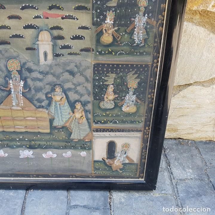 Varios objetos de Arte: TAPIZ PINTADO A MANO ENMARCADO - Foto 5 - 268830744