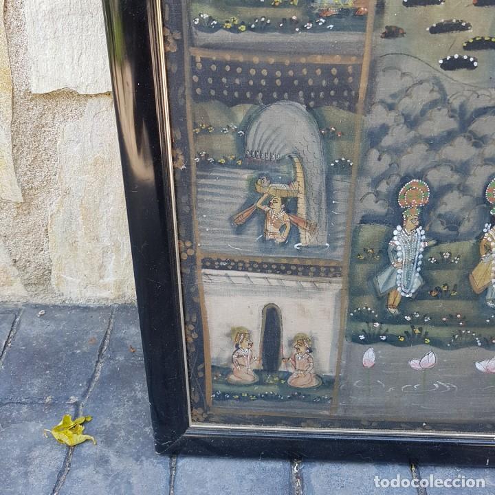 Varios objetos de Arte: TAPIZ PINTADO A MANO ENMARCADO - Foto 6 - 268830744