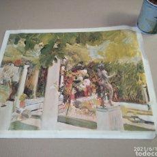 Varios objetos de Arte: CUADRO GRABADO EN TELA JARDÍN DE LA CASA DE SOROLLA. Lote 268864529