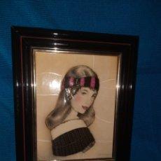 Varios objetos de Arte: CUADRO 3D, EN RELIEVE DE FIGURA FEMENINA DE ELENA OLIVERA , 32X26 CM. Lote 269012684